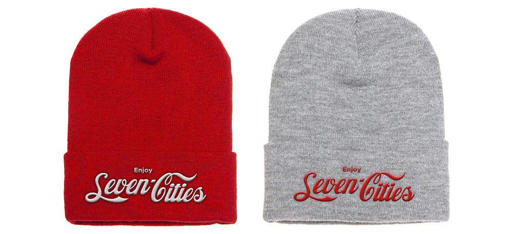Seven Sharks Classic Pack Red and Grey Beanies