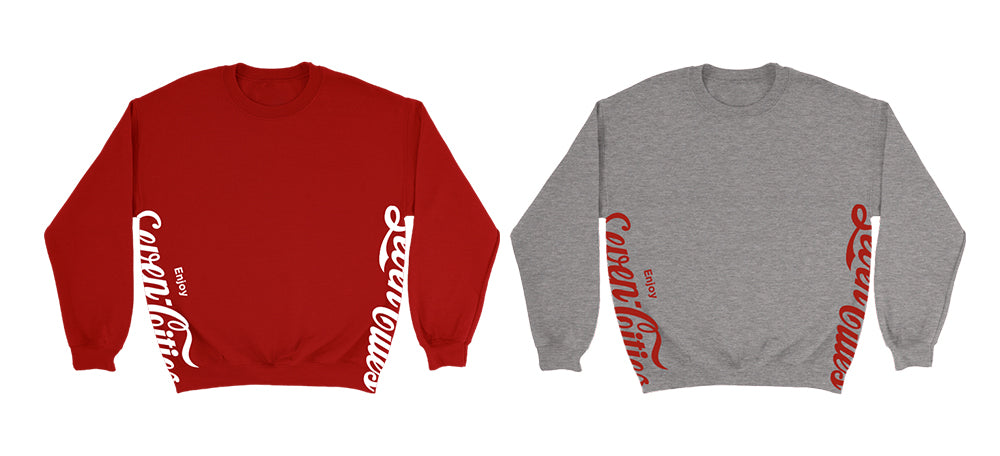 Seven Sharks Classic Pack Red and Heather Grey Crewneck Sweatshirt