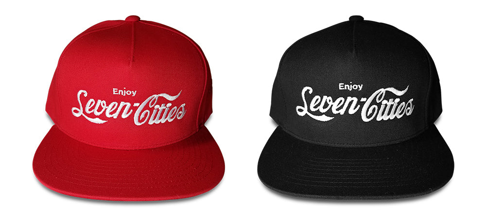 Seven Sharks Classic Pack Red and Black Snapback Hats
