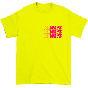 Seven Sharks Always VA Tee Safety Yellow