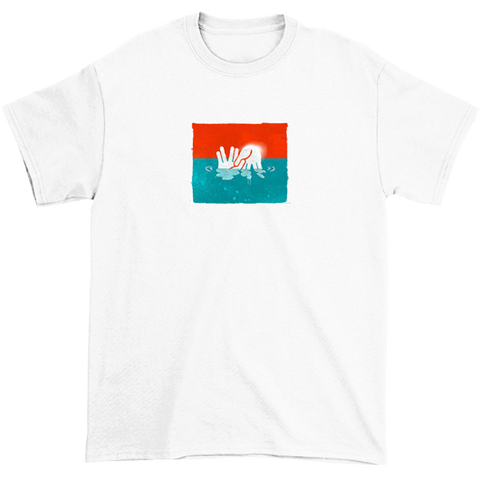 Seven Sharks Something In The Water 2U2D Tee White