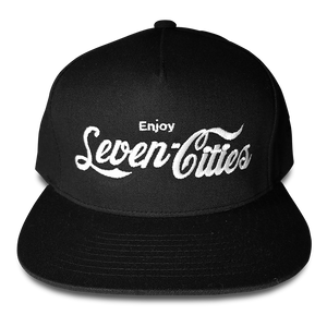 Black Seven Cities Snapback Hat