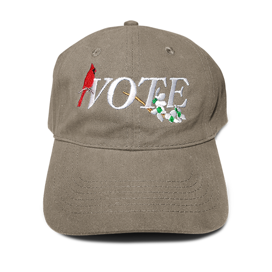 SEVEN SHARKS VA VOTE KHAKI DAD HAT