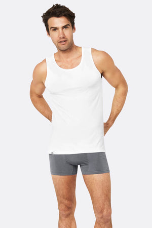 Men's Bamboo Tank - White