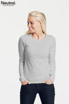 Organic Cotton Long Sleeve Top - Grey