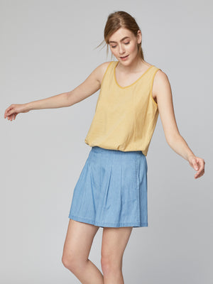 Samara Organic Cotton Chambray Shorts