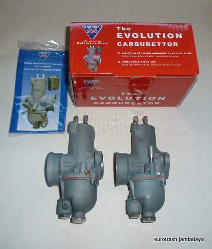 AMAL 932 Premier Carburetor PAIR copy by Wassel Norton 750 850