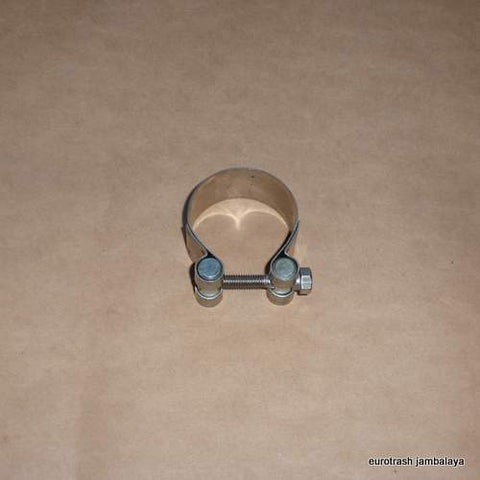 "Italy Exhaust Muffler Clamp 45mm/1 3/4"" STAINLESS"