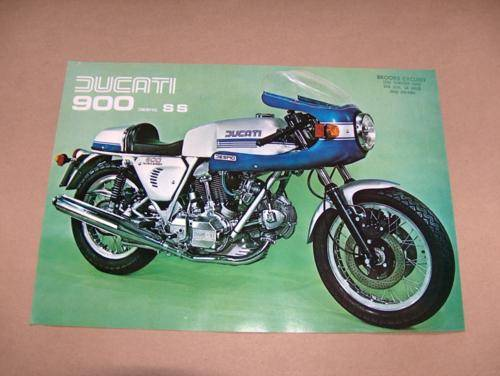NOS Ducati 900 SS Brochure 1976 the first one!!