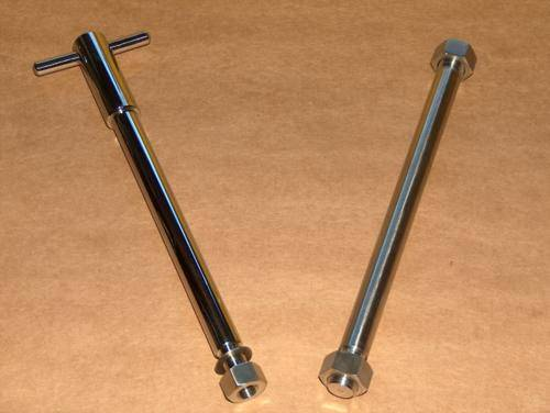 Ducati Single Front / Rear  Axle Set Widecase STAINLESS 350 450