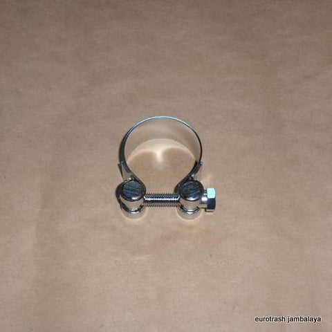 "Italy Exhaust Muffler Clamp 45mm/1 3/4"" CHROME"