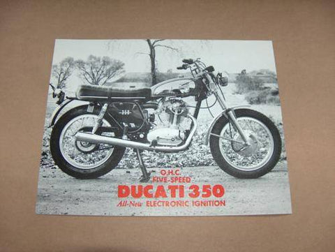 NOS Ducati 350 Brochure single scrambler mototrans diana