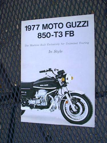 Vintage Moto Guzzi T3 FB Brochure, as Police nos