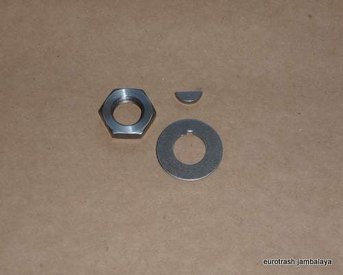 Ducati Single Camshaft Nut/Tab Washer/Woodruff Key SET 175-450