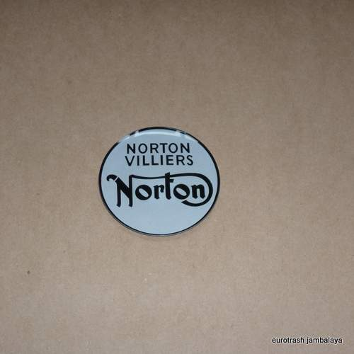 Norton Badge Emblem SET Fuel Tank Tail Fastback 750 Commando