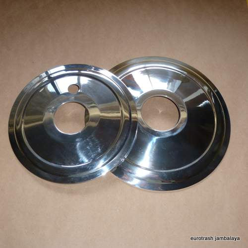 Norton P11 750 Matchless 500 650  Wheel Hub Cover Plate Set
