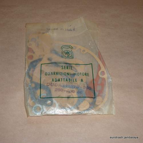 Ducati 250 Bevel Narrowcase Gasket Set NOS 200 350