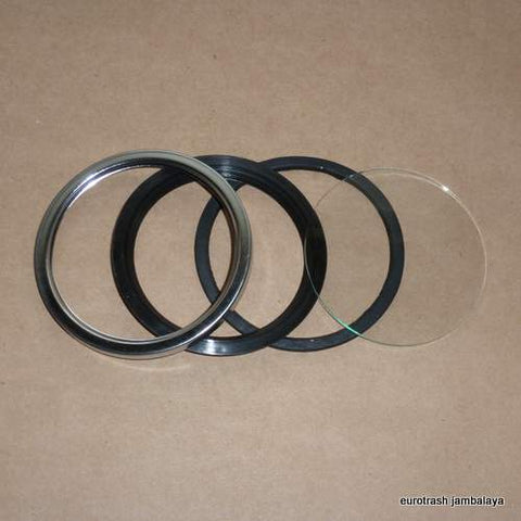 Veglia 80mm Tachometer Bezel Repair Kit Ducati Moto Guzzi CHROME