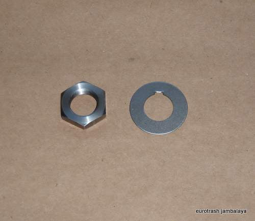 Ducati Single Clutch Mainshaft Nut/Tab Washer SET 250 350 450