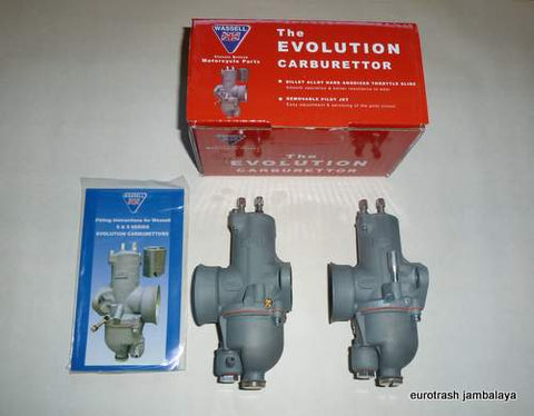 AMAL 930 Premier Carburetor PAIR copy by Wassel Triumph BSA 650 750
