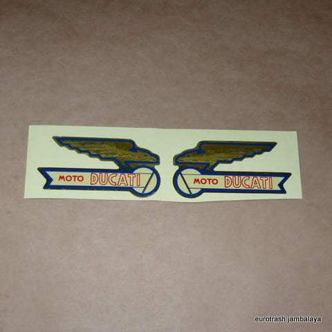 FOIL Moto Ducati Gas Tank Decal SET 0464-83-210/-220 scrambler