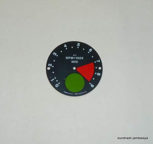 Smiths Tachometer Face Dial RSM3003/12 Norton Commando