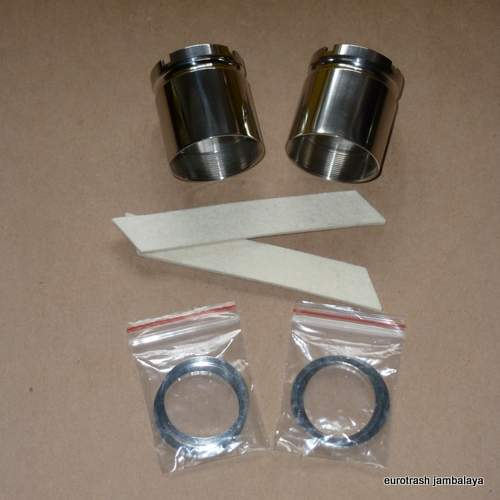Triumph Pre-Unit Fork Seal Holder SET COMPLETE Stainless 97-0390