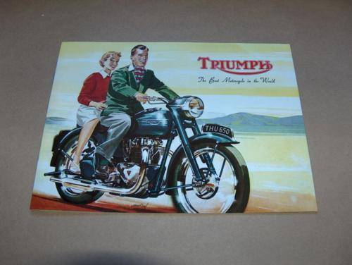 Vintage 1954 Triumph Range Catalogue PERFECT cub t120