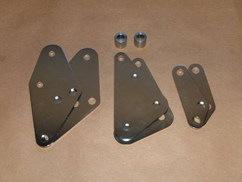 Norton Commando MK3 Muffler Plate Set STAINLESS 850