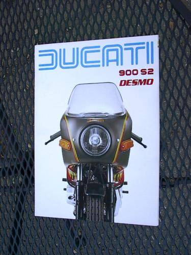 Ducati 900 S2 Factory Brochure '80's perfect NOS