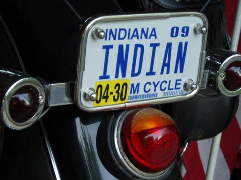INDIAN Vintage License Plate Frame of the 40s as NOS