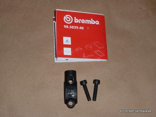 Ducati Moto Guzzi Brembo H/bar Clamp w/ Mirror Mount R/H thread