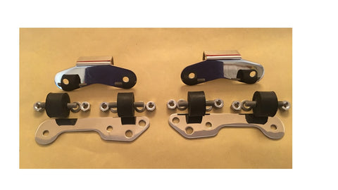 Norton Fastback Commando STAINLESS Muffler Mount Plate SET w/ Isolastic 750 06-0653, -0654, -0622