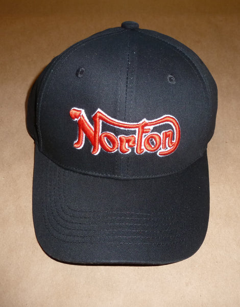 Norton Embroidered Baseball Hat Cap Top Quality Canvas 750 850 Commando Atlas