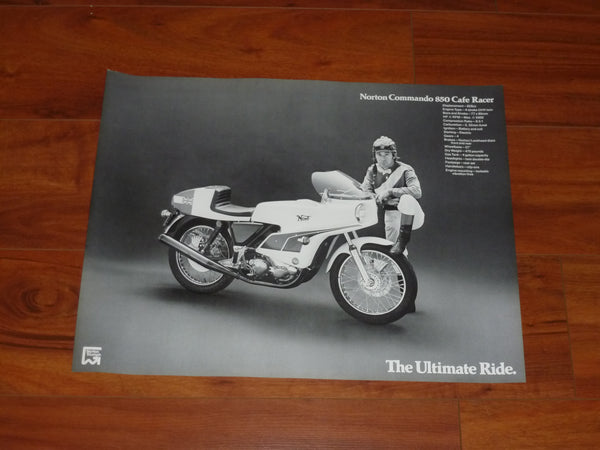 John Player Norton Poster NOS ahrma commando 750 850