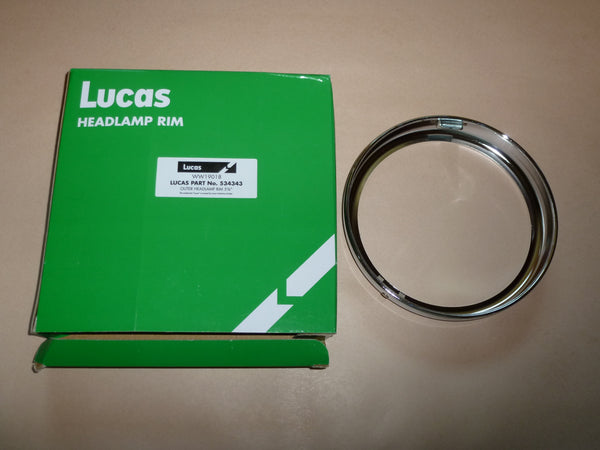 "GENUINE LUCAS 5 3/4"" 6"" HEADLIGHT RIM 534343 Norton Triumph BSA 250 441 500 650"