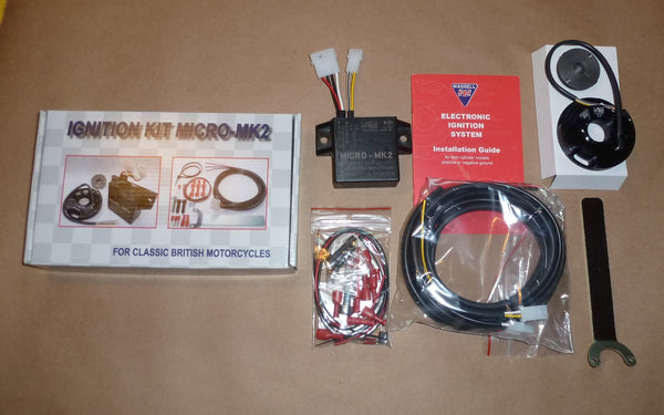 WASSELL MICRO-MK2 Electronic Ignition w/ Housing Triumph Norton BSA pre unit