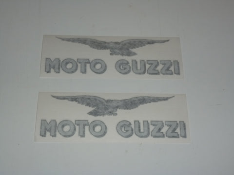 Moto Guzzi Tank Decal SET die-cut 1100 Sport Lemans black/silver 160mm