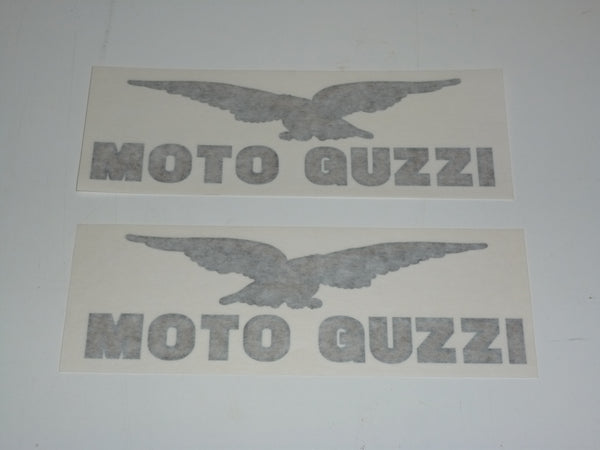 Moto Guzzi Tank Decal SET Lemans 1000 Lario 650 Gas Tank LARGE black/gold 190mm
