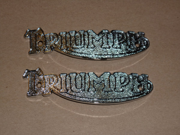 Triumph Tiger CUB Gas Fuel TANK BADGE SET F3496 82-3496 150 Terrier 200