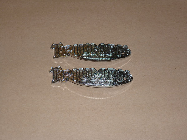 Triumph Pre Unit Gas Fuel TANK BADGE SET F1823 82-1823 500 650 Speed Twin Trophy