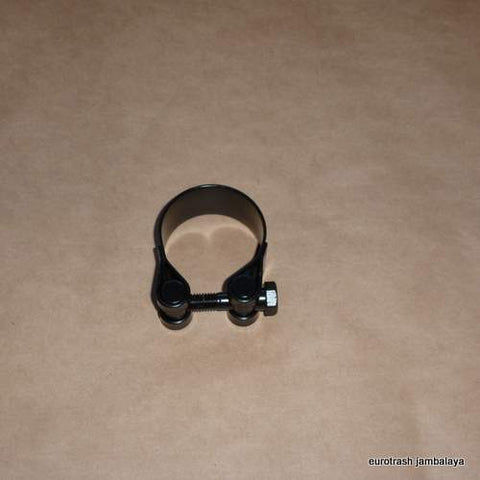 "Italy Exhaust Muffler Clamp 47mm/1 3/4+"" BLACK"
