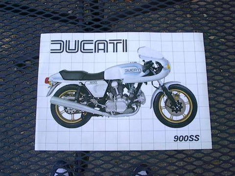 Ducati 900 SS Factory Brochure '80's perfect NOS