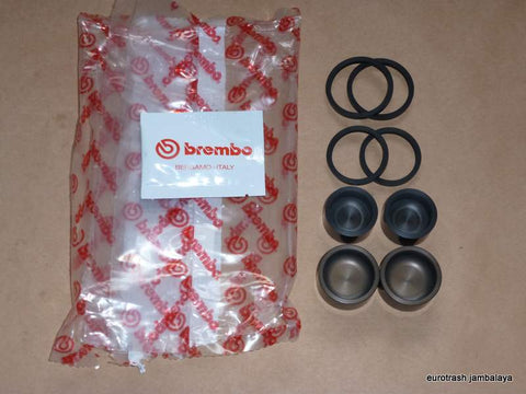 OEM Brembo P4 Gold Line GP Caliper SEAL / PISTON REBUILD Kit 4-piston 30mm/34mm