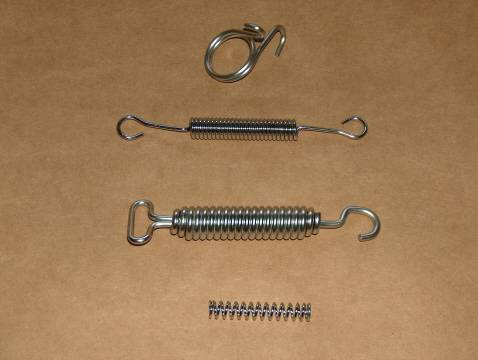 BSA 500 B32 B34 Gold Star STAINLESS Spring Kit single