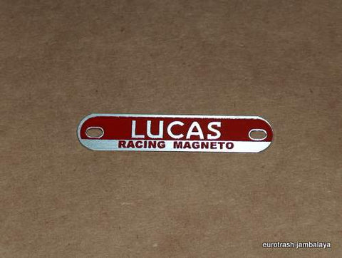 Lucas Racing Magneto Badge Plate Triumph BSA Norton RED