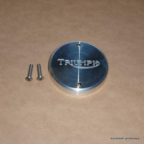 Triumph Alloy Points Cover w/screws 500 650 750 billet TWIN