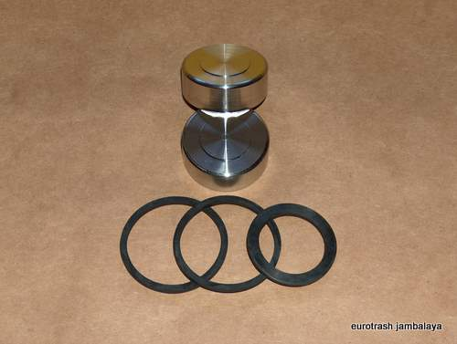 Norton 750 850 Commando Stainless Caliper Piston and Seal SET