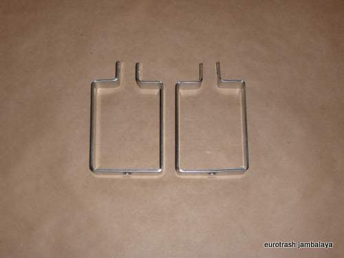 Triumph 750 Trident 3cyl Oil Cooler STAINLESS Hanger Bracket SET