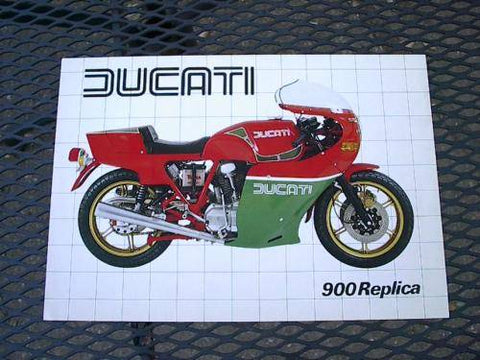 Ducati 900 Hailwood Replica Factory Brochure 80's
